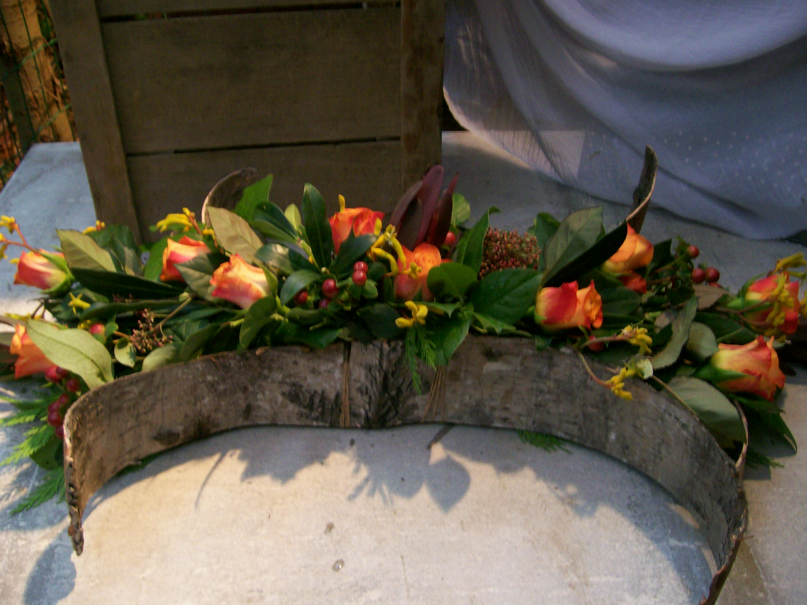 BL0 35 – Zalm rozen met boomschors – € 38